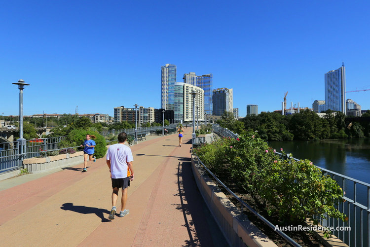 Downtown Austin Pfluger Pedestrian Bridge