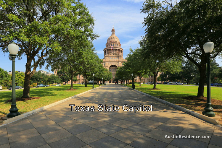 Downtown Austin Texas State Capitol