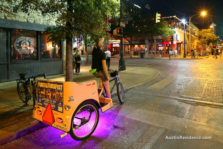 Downtown Austin Pedicab 6th Street