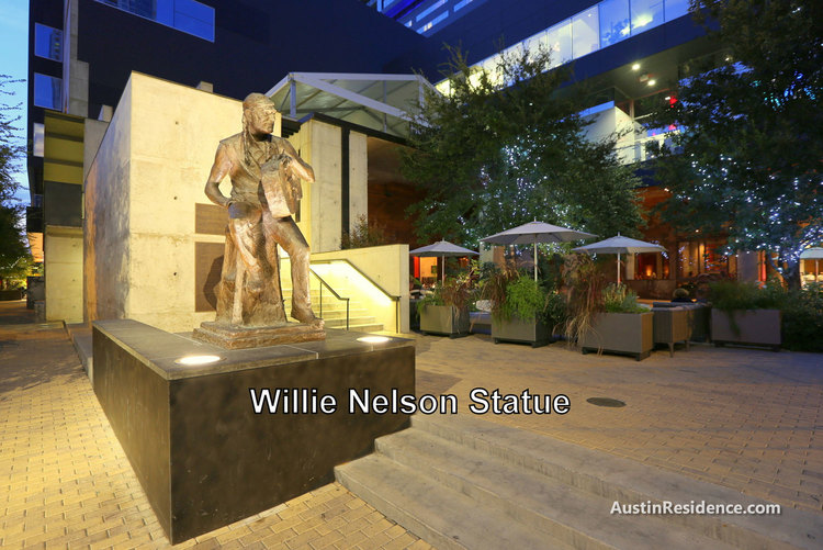 Downtown Austin Willie Nelson Statue