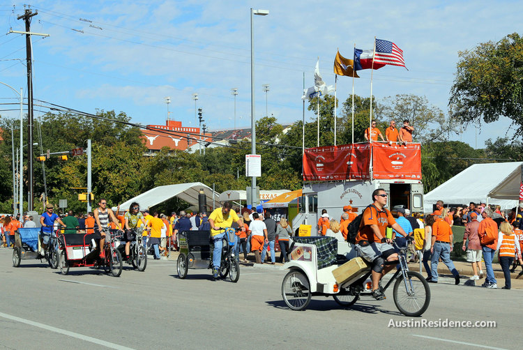 Downtown Austin Pedicabs UT Gameday