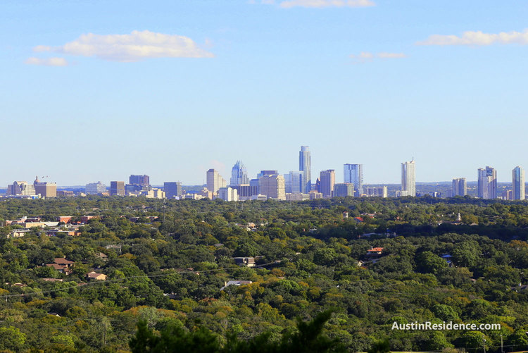 Downtown Austin View from Mount Bonnell