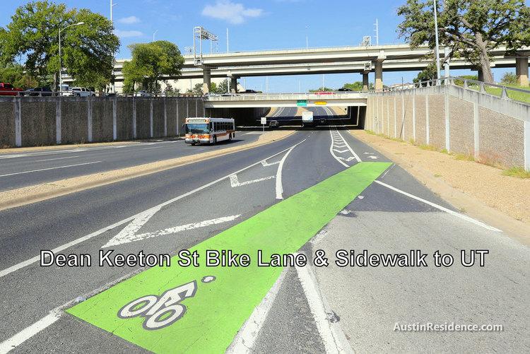 East Austin Dean Keeton Bike Lane and Sidewalk to UT