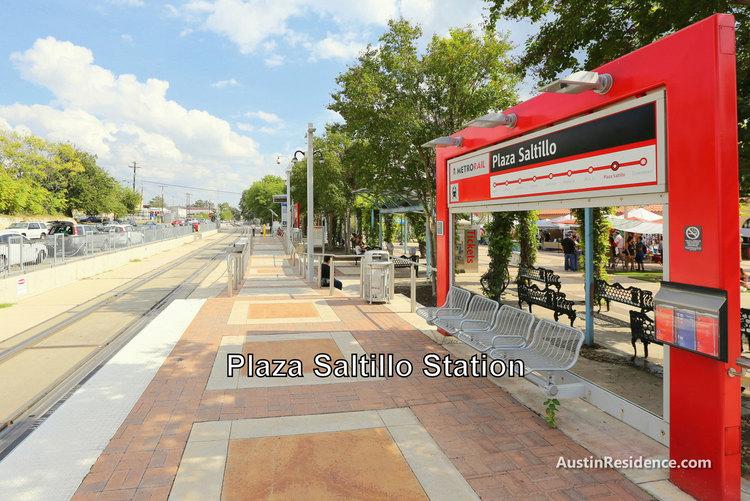 East Austin Plaza Saltillo MetroRail Station