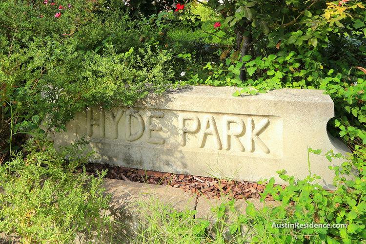 Hyde Park Neighborhood Sign