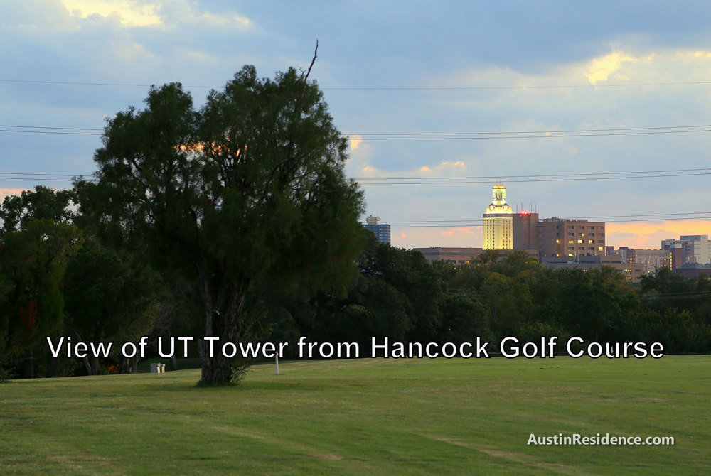 Hyde Park Hancock Golf Course UT Tower View
