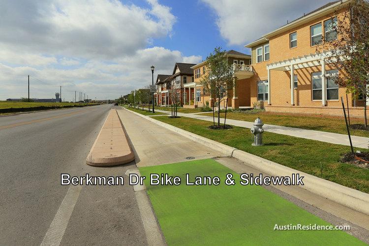 Mueller Berkman Dr Bike Lane and Homes