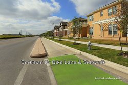 Mueller Berkman Dr Bike Lane and Homes