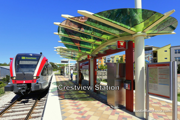 North Central Austin Crestview MetroRail Station