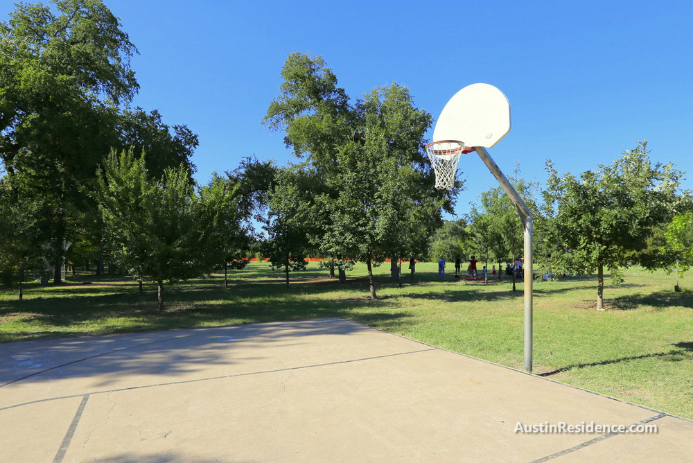 Old West Austin Pease Park Basketball Court