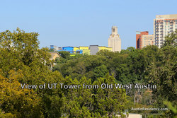 Old West Austin UT Tower View