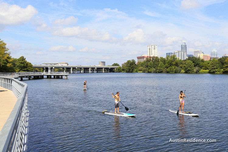 Riverside Stand Up Paddle Boarding Lady Bird Lake