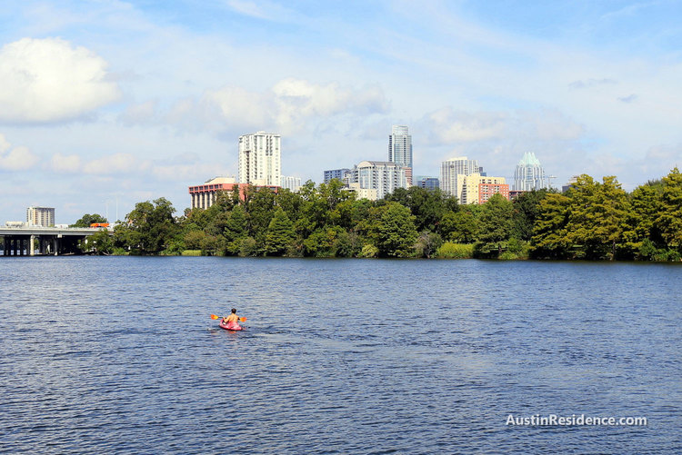 Riverside Kayaking Lady Bird Lake
