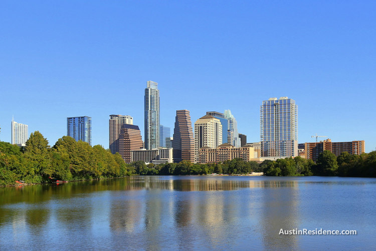 South Central Austin Downtown View from Boardwalk Trail