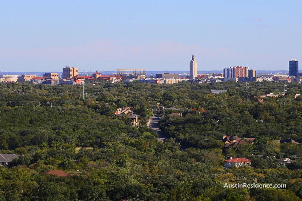 Tarrytown UT Austin View from Mount Bonnell