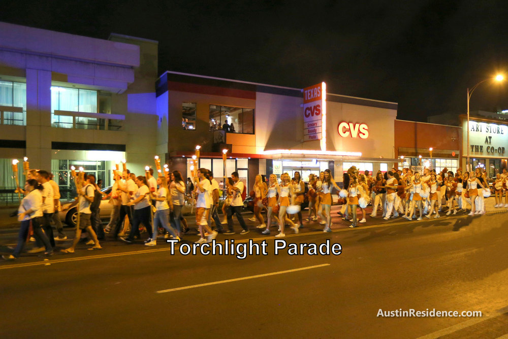 West Campus Torchlight Parade