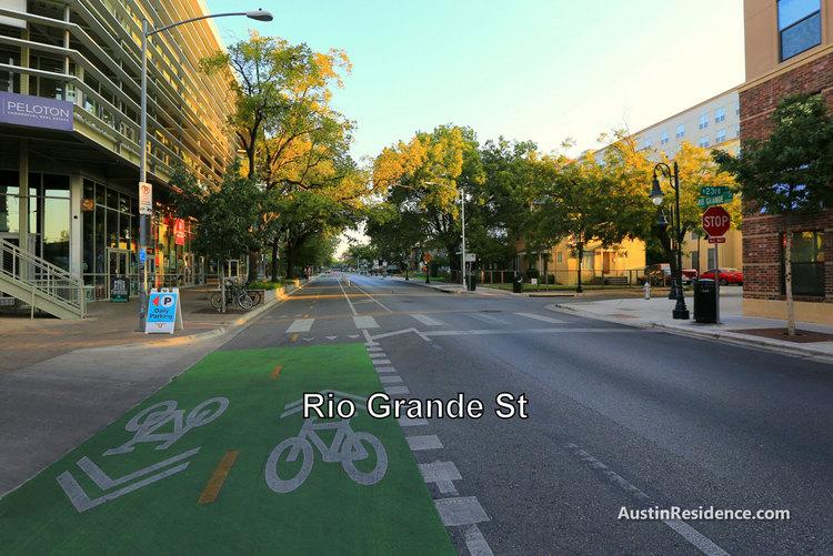 West Campus Rio Grande St Bike Lanes