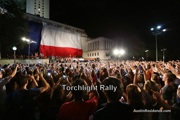 West Campus Torchlight Rally