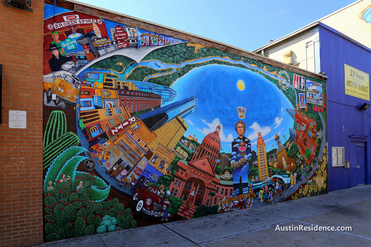 West Campus 23rd and Guadalupe Austin Mural