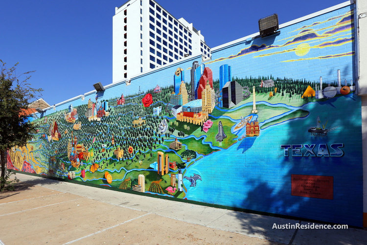 West Campus 23rd and Guadalupe Texas Mural
