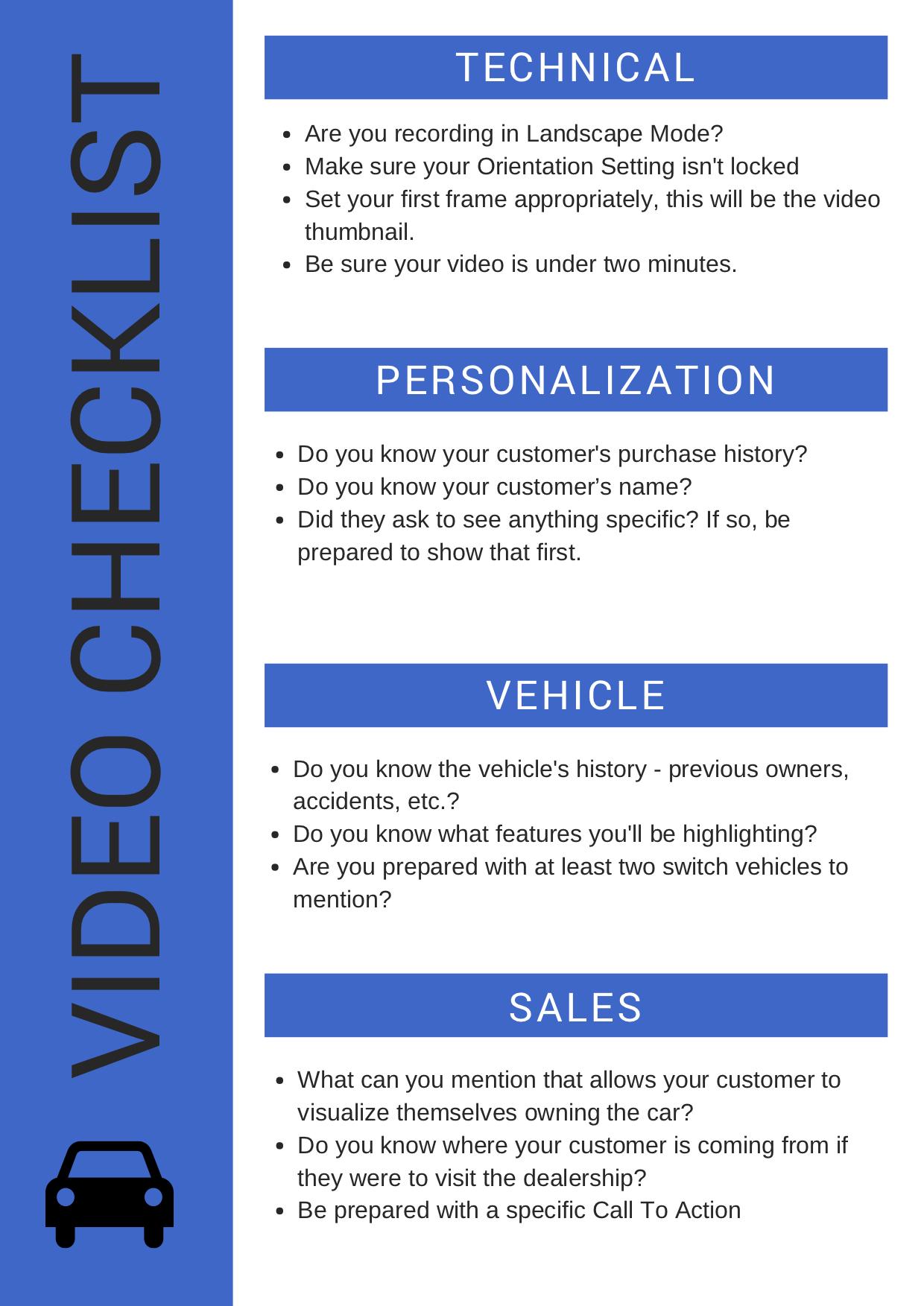 Authntk Video Checklist