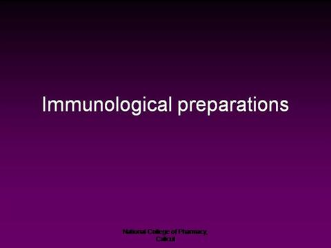 Course faculty: imon rahman. Immunological products immunological.