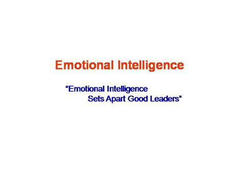 Emotional Intelligence |authorSTREAM