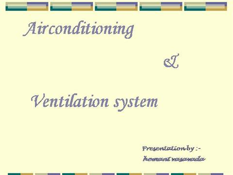 Air Conditioning System |authorSTREAM