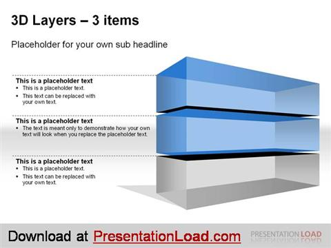 powerpoint 3d layers template authorstream