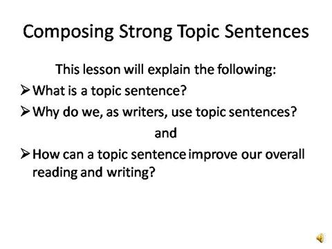Good words use writing thesis statement