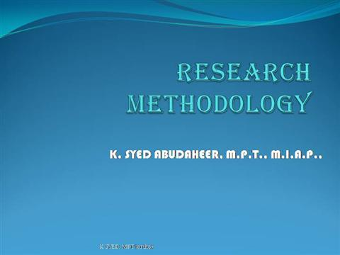 Tabulation in research methodology pdf ppt