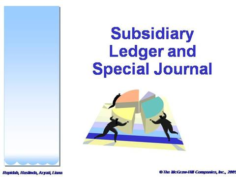 Subsidiary ledger and special journal authorstream for Subsidiary ledger template