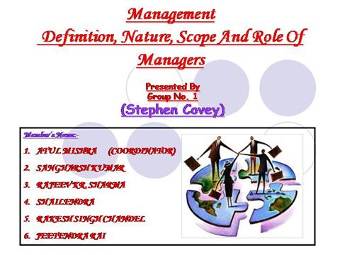 nature and scope of management accounting Accounting is the art of recording, classifying, and summarising in a significant manner and in terms of money, transactions and events which are, in part at least, of a financial character, and interpreting the result thereof.