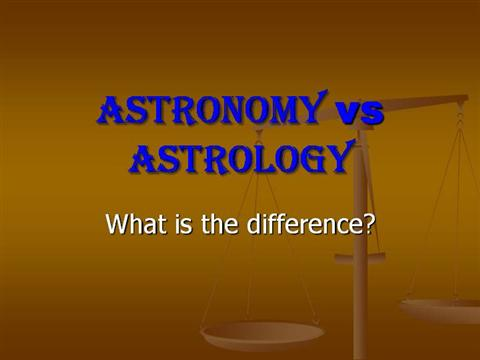 astrology vs astronomy essays