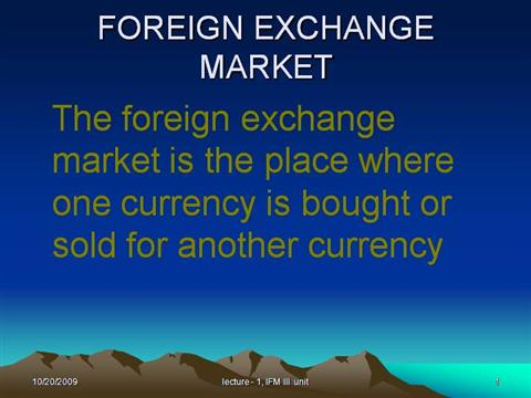 Do forex traders own the foreign exhcange