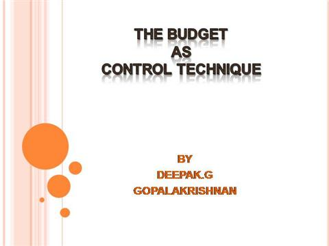 THE BUDGET as CONTROL TECHNIQUES CORRECT |authorSTREAM