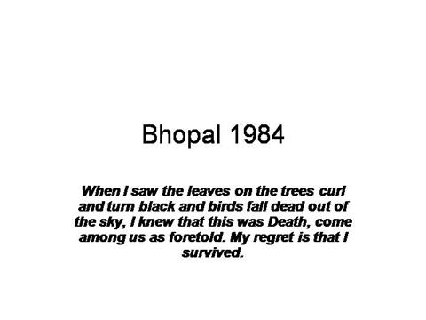 case study on bhopal gas tragedy ppt