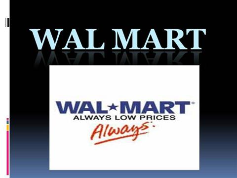 Wal mart authorstream for Walmart powerpoint template