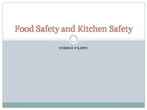 food safety powerpoint template - food safety and kitchen safety authorstream