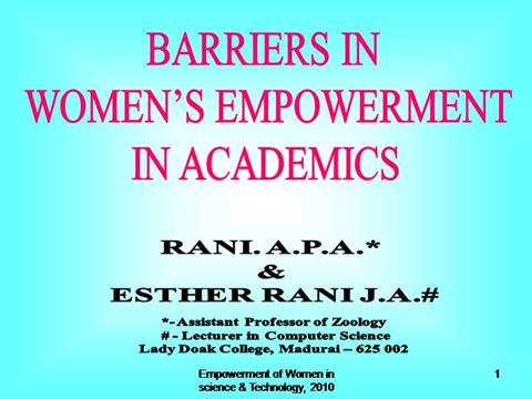 Dissertation methodology barriers to female education