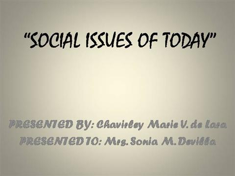 Social issues and environment |authorstream.
