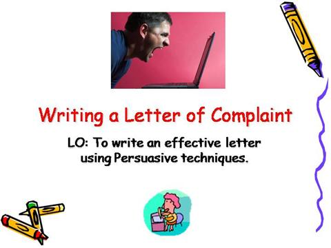 how to write a persuasive letter powerpoint writing letter of complaint authorstream 18770