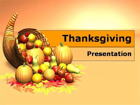 free thanksgiving day powerpoint template download authorstream
