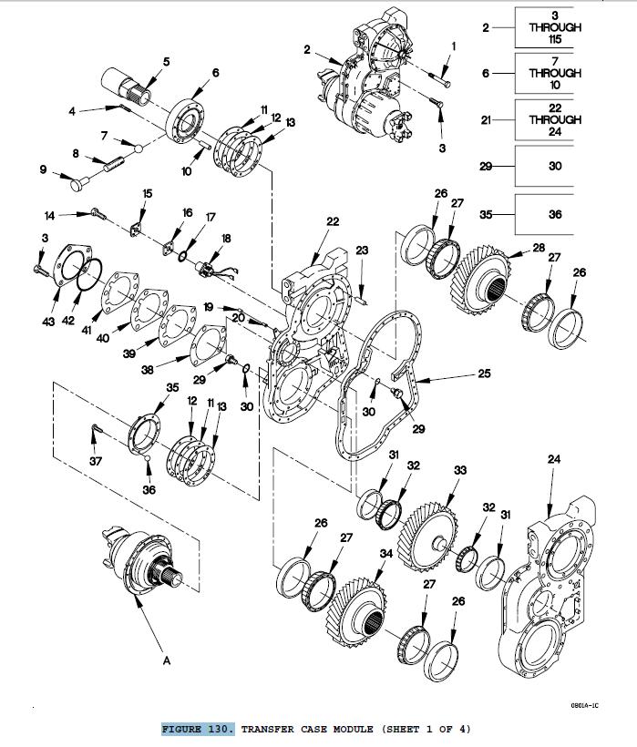 1 M1078 TRANSFER CASE GEAR 3020013607991 29506345 NOS