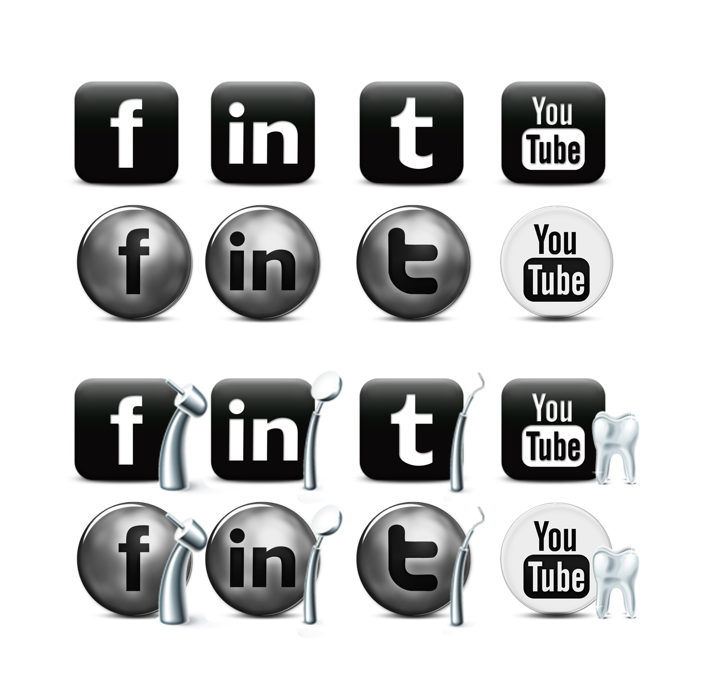 SOCIAL DENTAL ICONS