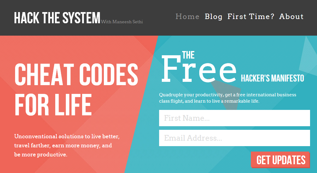 hack the system homepage