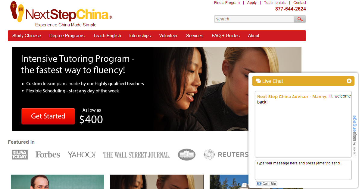 next step china website chat