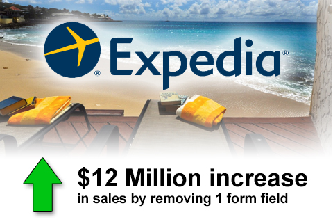 expedia 12 million conversion sales increase