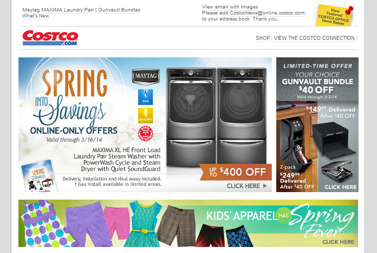 costco email template