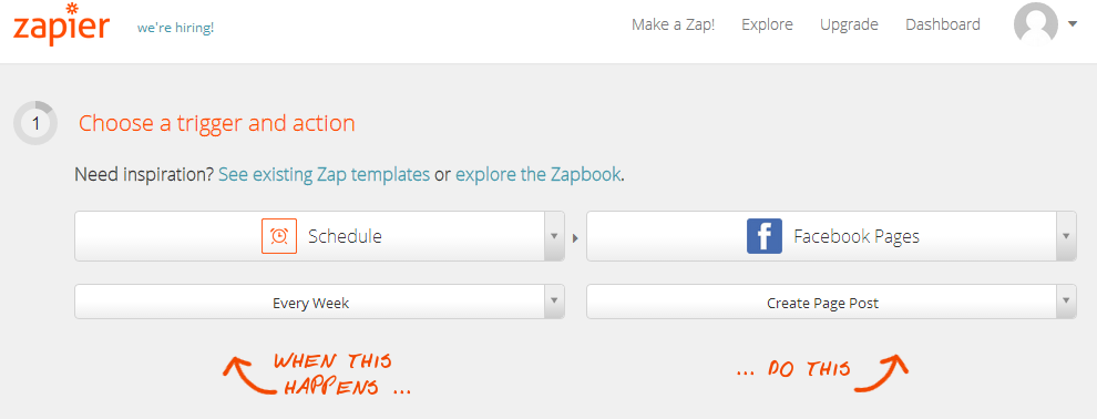 Use Zapier to automatically convert facebook likes and fans into email subscribers